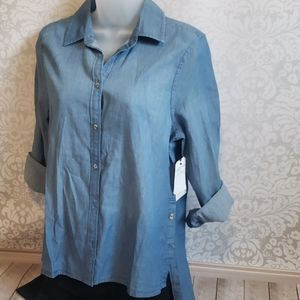 Melrose and Market Chambray button down shirt
